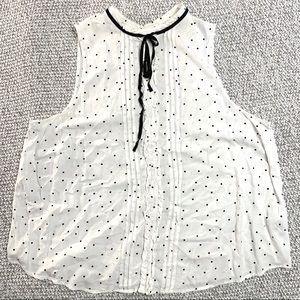 Forever 21 + Plus Sizes polka dot with tie top